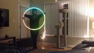 reflective tape hoop dance