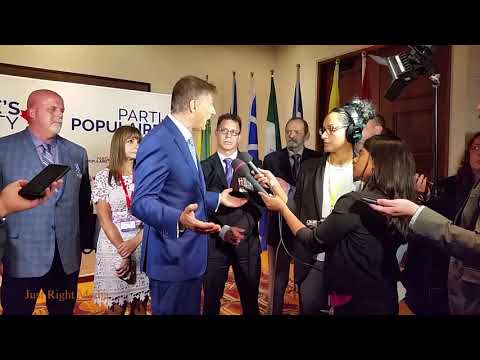 People's Party Gatineau Media Scrum - Behind the Scenes
