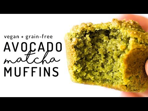 Avocado Matcha Muffins Youtube