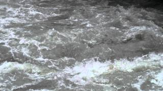 Slow motion shot of river waves