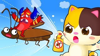 COCKROACH INVASION in Kitten's House | Good Habits Song | Kids Songs | Kids Cartoon | BabyBus