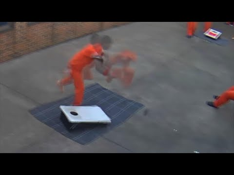 Frankie and Jess - Drone drops off package to inmate (VIDEO)