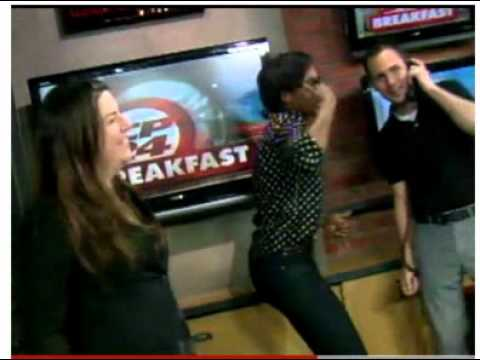 CP24 News Reporters Dancing on T.V. Courtesy: CP24 News ...