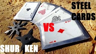 NINJA STARS (SHURIKEN) vs STEEL THROWING CARDS / What's Better?
