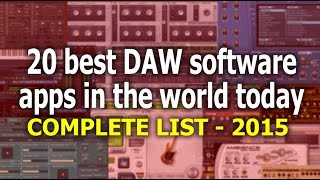 The 20 Best DAW Software APPs in the world (for 2016)