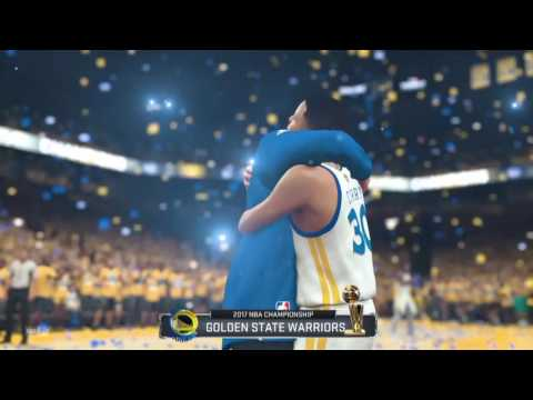 Golden State Warriors 2016-17 NBA Champions | Trophy Presentation & Kevin Durant Finals MVP NBA 2K17
