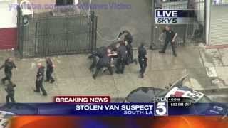 Wild Police Chase - South Los Angeles, CA - April 30, 2013 thumbnail