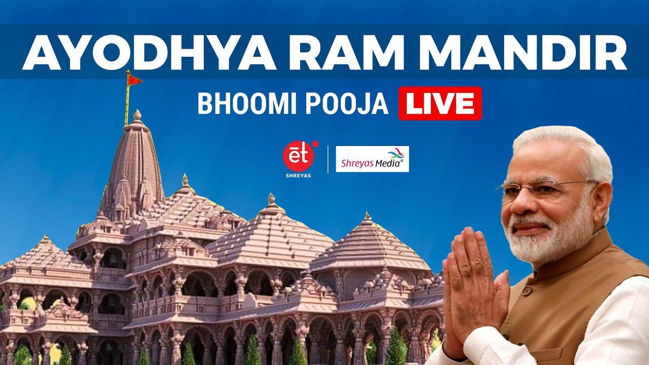 Ayodhya Ram Mandir Bhoomi Pooja LIVE | PM Modi Live | Shreyas Media