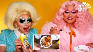 Mukbang with Kim Chi (Trixie tries Kim's favorite Korean dishes)
