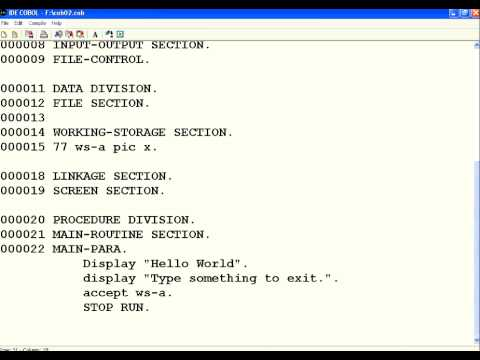 COBOL 2 Identification and Environment Divisions