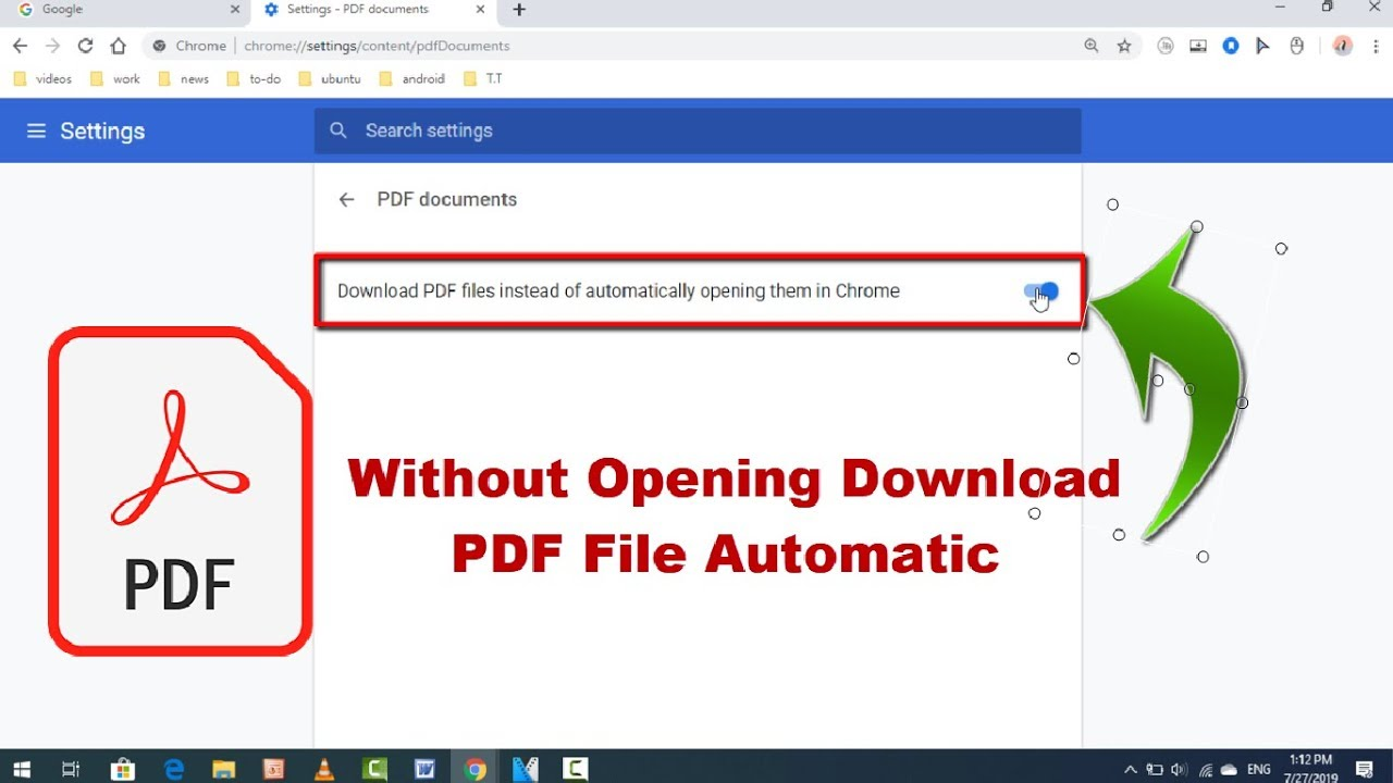 How to Automatically Download PDF File on Chrome Instead of Opening in  Windows