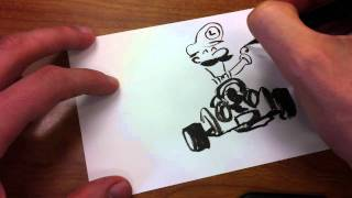 How to Draw Super Mario Kart Luigi Jim McGee