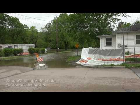 Major Flood Crest on Big Muddy River, Southern IL - 5/4/2017