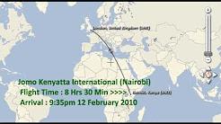 Kincardine to Kenya AIR TRAVEL TORONTO-LONDON-NAIROBI-KISUMU - GOOGLE MAPS