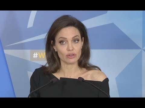 Angelina Jolie At NATO HQ