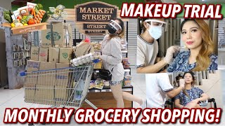 MONTHLY GROCERY SHOPPING! + WEDDING MAKEUP TRIAL | VLOG#104 Candy Inoue ♥️