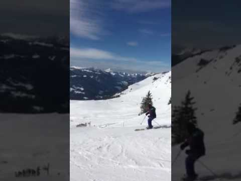 Granny Liebreich Hits The Slopes