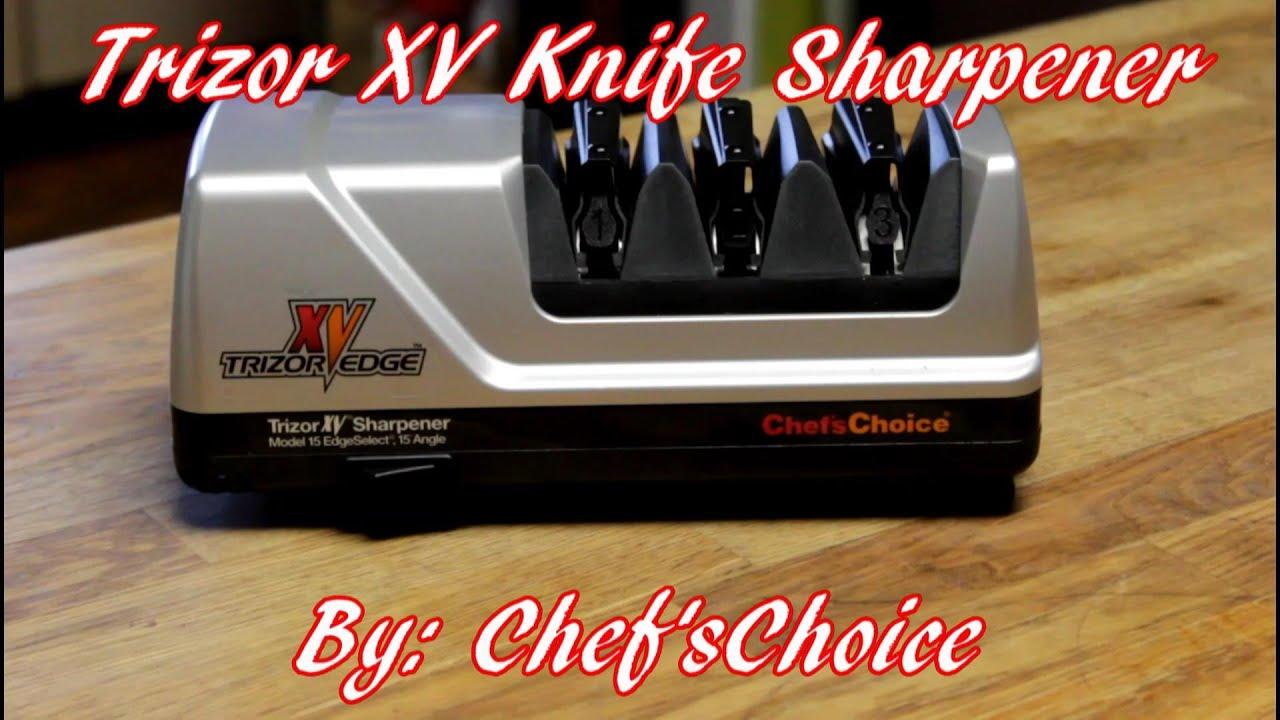 Trizor Xv Knife Sharpener By Chef Schoice Youtube