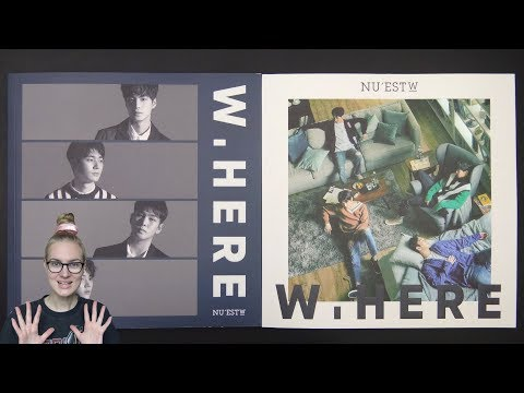 Unboxing NU'EST W 뉴이스트 W 1st Mini Album W, HERE (Portrait & Still Life Edition)