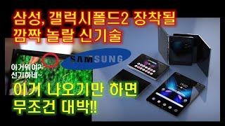 삼성, 갤럭시폴드2 정말 이렇게 나온다고? 초격차 신기술 대박!