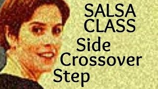 Salsa Basic Side Crossover Step for beginners 15/22