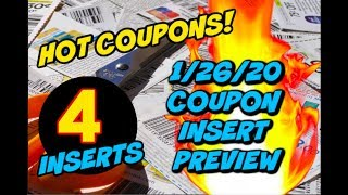 1/26/20 COUPON INSERT PREVIEW | 4 INSERTS W/ AWESOME COUPONS!!!