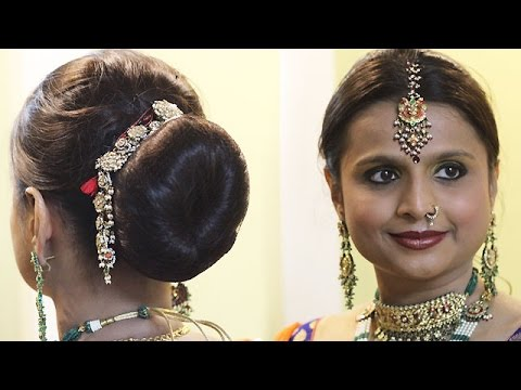 indian women hair style photos indian bridal hairstyle rajwadi style 7387 | hqdefault