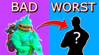 Ranking Every UGLY SKIN from BAD To WORST in Fortnite Battle Royale!