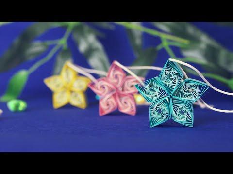 渦巻きがキレイなお星さまの作り方【七夕飾り】 DIY How to Make Paper Stars