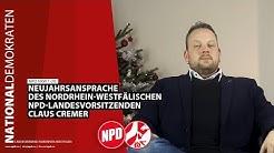 NPD NRW 1-20: Neujahrsansprache des nordrhein-westfälischen NPD-Landesvorsitzenden Claus Cremer