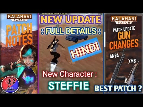 UPCOMING KALAHARI PATCH UPDATE FULL DETAILS IN HINDI// FT. ROY GAMING// NEW CHARACTER// STEFFIE||