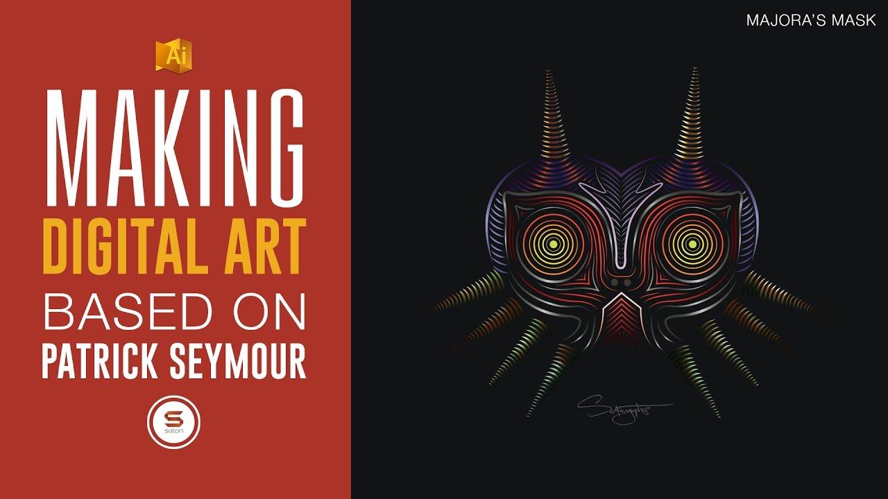 Illustrator Digital Line Art Zelda Majora S Mask Art In The Style Of Patrick Seymour Youtube