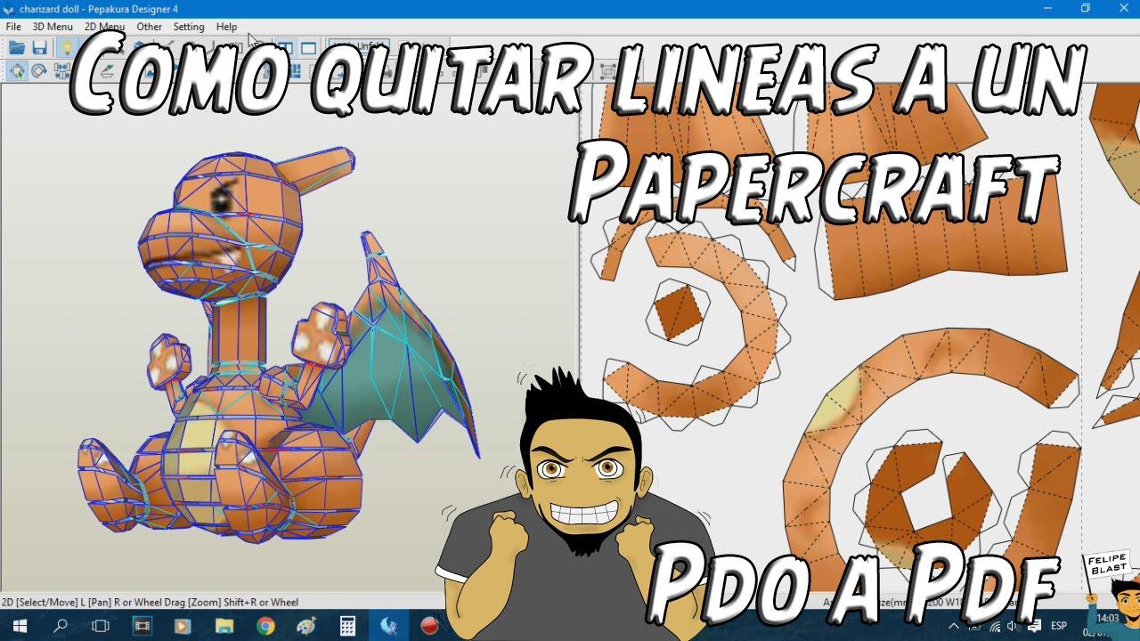 Papercraft Tutorial #13: Como quitar las lineas de un Papercraft y pasar de .PDO a .PDF con Pepakura Designer