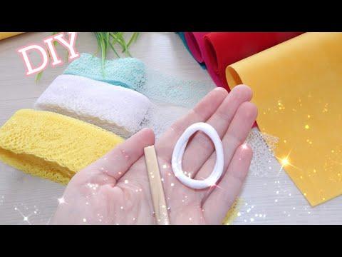 Новогодние резинки для волос своими руками