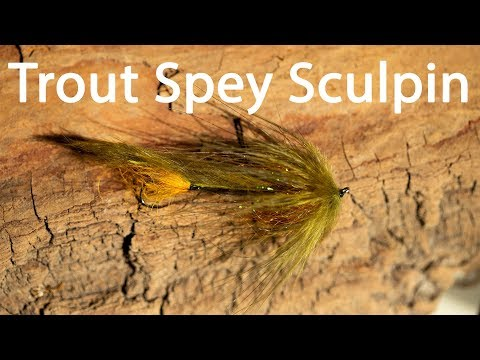 How To Tie An Easy Trout Spey Sculpin | Trout Spey Streamer