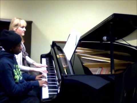 Piano Duet - Isaiah - Dance of the Shepherd Girls - A to G Music School - Sutton