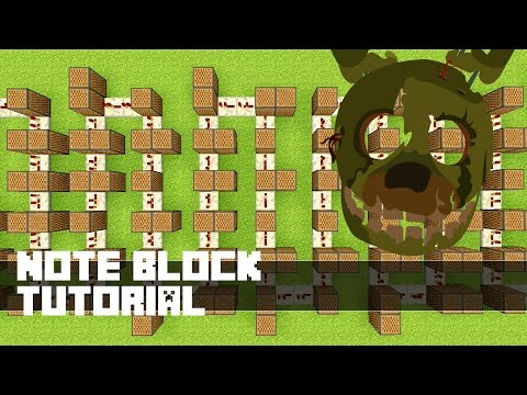FIVE NIGHTS AT FREDDY'S 3 SONG - Good Ending Music - Minecraft  Note Block Tutorial 