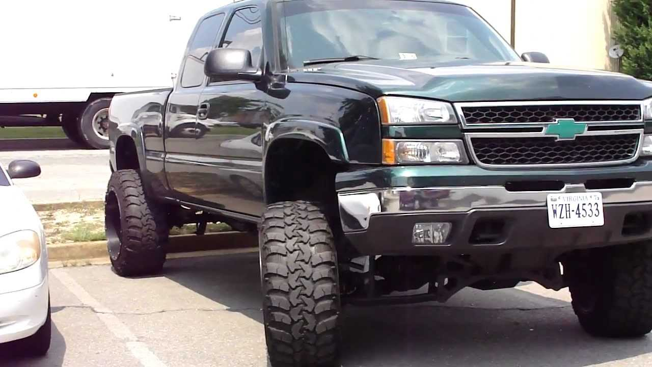 Jacked Up Chevy 4x4 Mudder Mud Tires Insane Stance