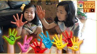 뽀로로 물감놀이 손바닥으로 도장놀이 손도장  learn colors with pororo l color paints play