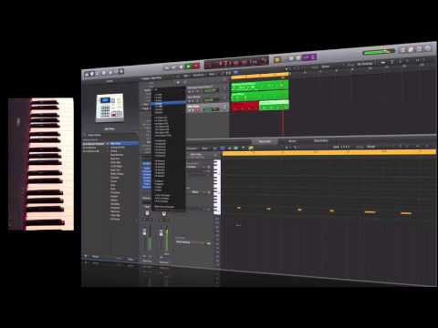 Logic Pro X - old school house jam composition session
