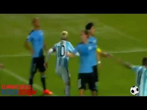 Argentina vs Uruguay 1 0 Gol DE MESSI Eliminatorias Mundial 2016