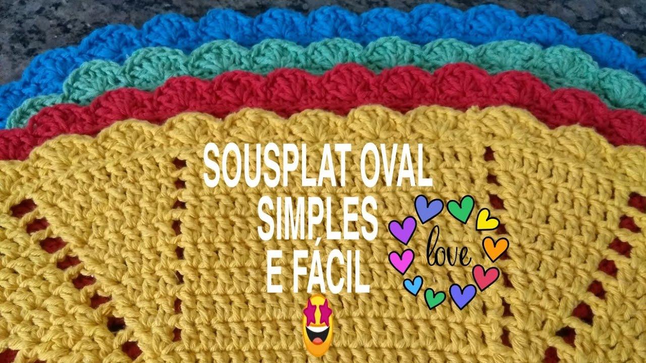 Sousplat oval simples, fácil e rápido/#2/Por Ivalda Moura ...
