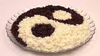 Салат ИНЬ  ЯНЬ  Вкусные оригинальные рецепты  Праздничные салаты