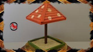 как сделать песочницу из картона