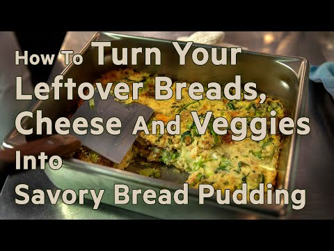 Chef Irene Li's Savory Bread Pudding