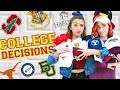 COLLEGE DECISION 2018! Are We Going to the SAME School?!?