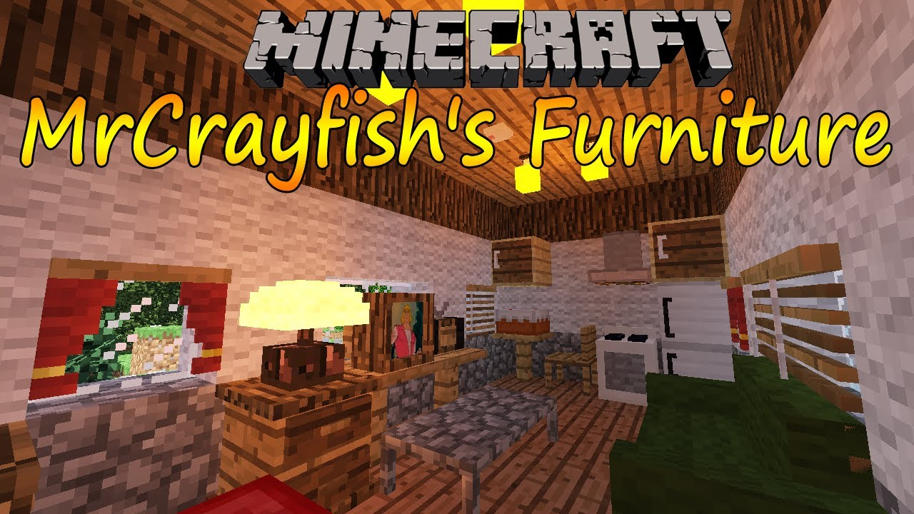 Minecraft 164 MrCrayfishs Furniture Mod Espaol YouTube