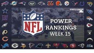 NFL 2016 Week 15 Power Ratings(December 13)