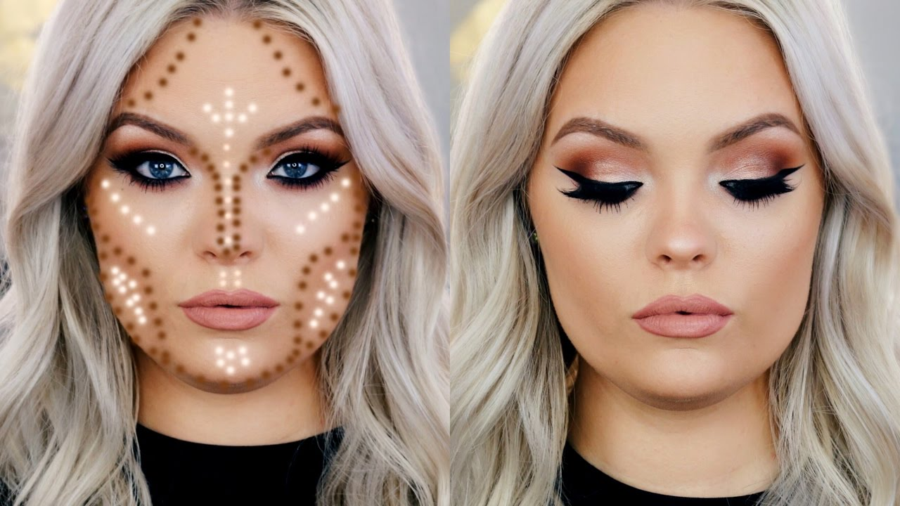 How To Contour Round Face Youtube