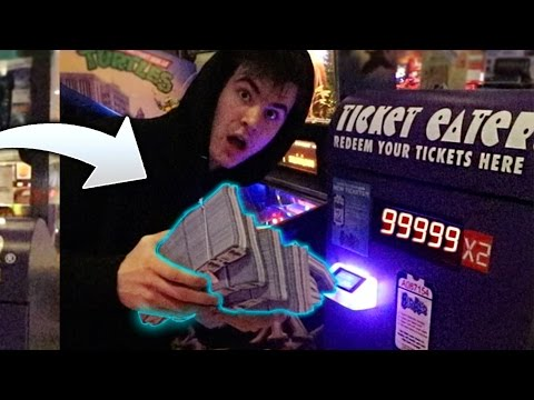 TURN 1 TICKET TO 100000 TICKETS AT ARCADE! *CRACK HACK*